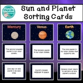 Sun and Planet Characteristics Sorting Cards