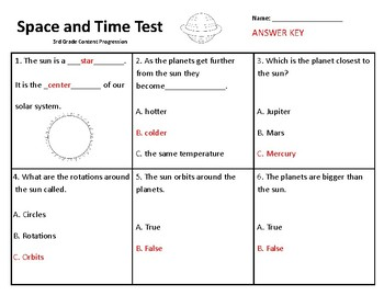 Sun and Planets Test
