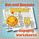 Sun & Seasons Puzzle Worksheet BUNDLE