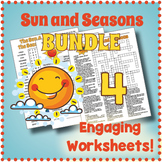 SUN & SEASONS BUNDLE - 4 Puzzle Worksheet Activities