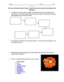 Sun and Solar System Internet Research Project