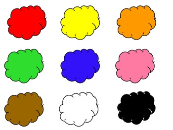 Sun and cloud color matching file folder