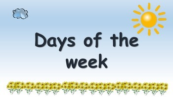 Sun and cloud days of the week posters