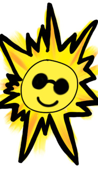 Sun happy clip art