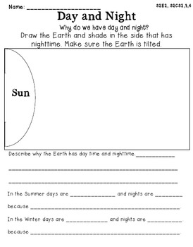 Sun, moon, and Earth Science Unit