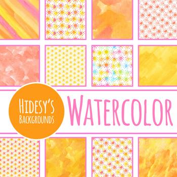 Sun or Sunshine or Summer Digital Paper / Background Clip Art Set Commercial Use