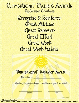 """Sun-sational"" Student Awards"