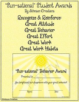 """""""Sun-sational"""" Student Awards"""