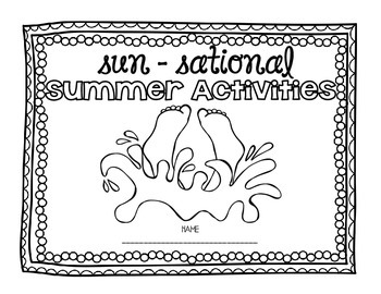 Sun-sational Summer Journal- Activities to keep learning all summer