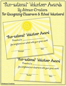 """Sun-sational"" Volunteer Awards"