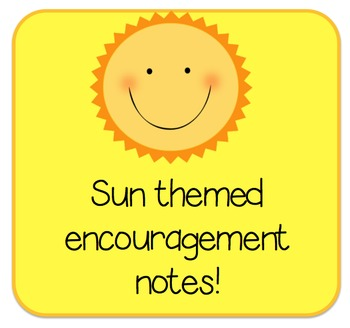 FREE Sun themed encouragement notes
