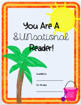 SunSational Reader Award {Award for Reading}