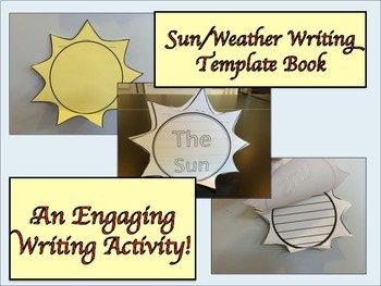 ESL Resources: Sun/Weather-Thematic Writing Book Template-ELL Newcomers Too!