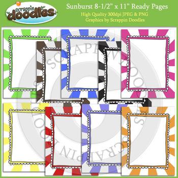 Sunburst 8 1/2 x 11 Ready Pages