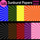 Sunburst Digital Papers Set #2 {Clipart}