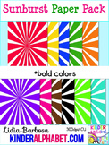 Sunburst Papers in Bold { Clip Art for Teachers }
