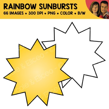 Sunburst Shape Clipart