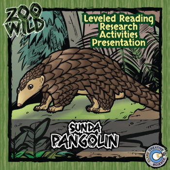 Sunda Pangolin -- 10 Resources -- Coloring Pages, Reading & Activities