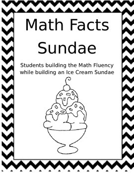 Sundae Math Fact black and white