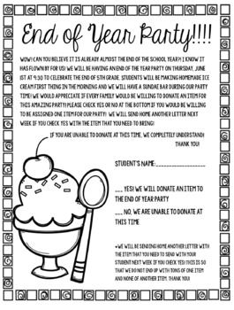 Sundae Party Forms *Editable*