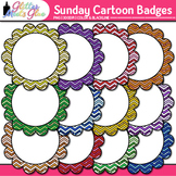 Sunday Cartoons Frame Clip Art: Rainbow Glitter Labels {Glitter Meets Glue}