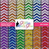 Sunday Cartoons Chevron Paper {Scrapbook Backgrounds for T