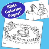Sunday School Bible Coloring Pages Pack