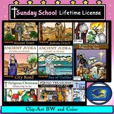 Sunday School Christian Clip-Art Lifetime License Bundle!