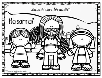 The Story of Easter - Sunday School Coloring Pages
