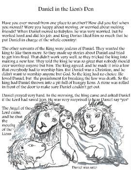 Sunday School Curriculum: Daniel in the Lions' Den