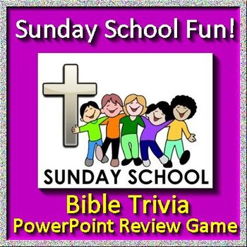 Sunday School Fun Jeopardy Game - Bible Trivia