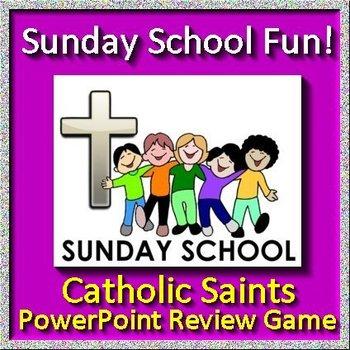 Sunday School Fun Jeopardy Game - Catholic Saints