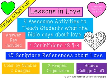 Sunday School Fun:  Lessons in Love!