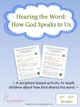 Sunday School: Hearing God's Word: How God Speaks to Us