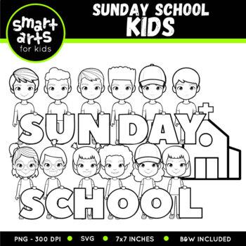 Sunday School Kids Clip Art