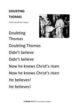 Sunday School Lesson: DOUBTING THOMAS