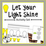 Sunday School-Let Your Light Shine Activity Set: Scavenger Hunt and Craft