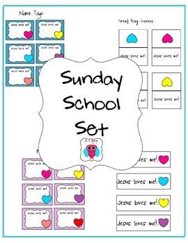 Sunday School Set- Jesus Loves Me Freebie