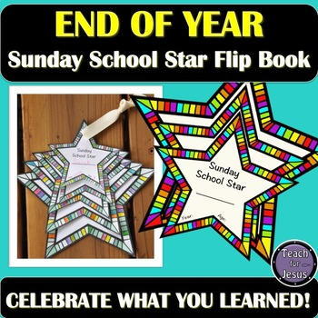 Sunday School Star End of the Year Flip Book