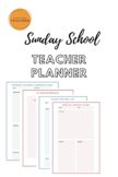 Sunday School Teacher Planner