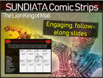Sundiata, 'Lion King of Mali' Africa Comic Strip Activity: engaging 30-slide PPT