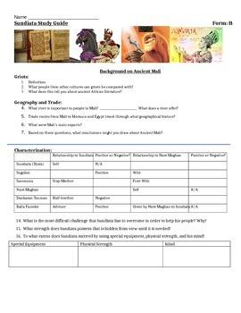 Sundiata Study Guide
