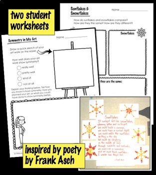 Art Lesson - Sunflakes - Geometry and Poetry Integrated