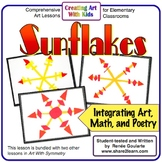 Art Lesson Sunflakes - Geometry and Poetry Integrated
