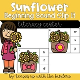Sunflower Alphabet Clip It Cards with Recording Sheet