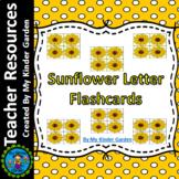 Sunflower Alphabet Letter Flashcards Uppercase and Lowercase