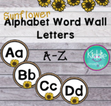 Sunflower Alphabet Letters