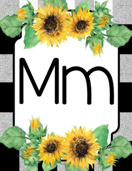 Sunflower Alphabet Posters • Sunflower Classroom Decor by ...