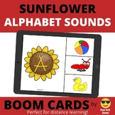 Sunflower Alphabet Sounds BOOM Cards (distance learning)