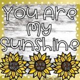 Sunflower Bulletin Board Name Craft and Writing